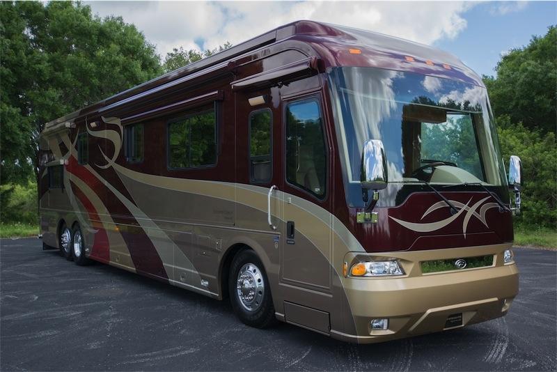 2008 Country Coach Magna 45rembrandt Quad Slide